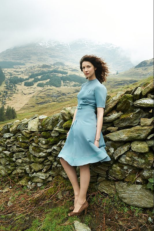 NEW promo pics of Caitriona Balfe ,one pic with Sam Heughan, as Claire Fraser in Season 1 of Outlander.