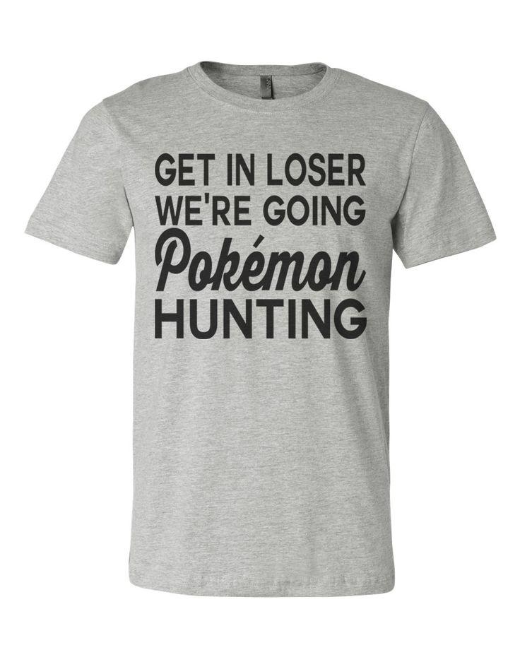 Pokemon Go 90's Kid White Chicks Get In Loser We're Going Pokemon Hunting Men's T Shirt - Best Coast Shirts