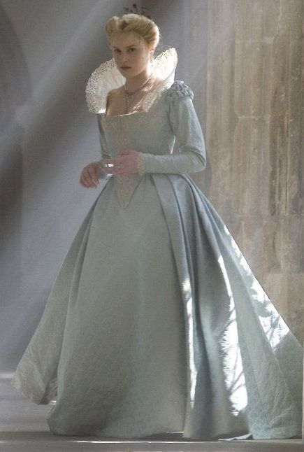 """Queen Elizabeth 1 favorite Lady in waiting  """"Bess"""" in her Elizabethan gown from the movie of the same name of Queen"""