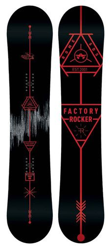 Rome Factory Rocker Snowboard | $349.00 | Rome Snowboard Design Syndicate 2015 | For the rider who challenges themselves every day to progress: new trails, new tricks and new experiences. A playful blend of rocker and camber for a buttery fun flex that still holds an edge when you want it to. I ♥ LOVE this black and red snowboard... dope!! ☺