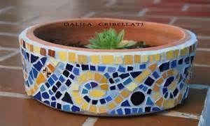 Mosaicos, trencadis: Macetas