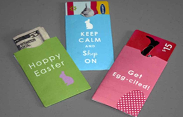 Free printable Easter Gift Card Holders are perfect for giving cash or gift cards to your loved ones.