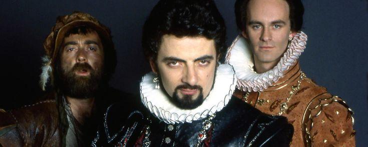 Tony Robinson, Rowan Atkinson and Tim McInnerny in 'Blackadder'.(Credit: BBC)