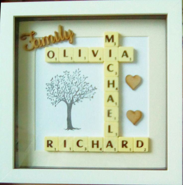 'Family Tree' Personalised Frame Valentines Day Mothers Day Gift Birthday Decor in Home, Furniture & DIY, Home Decor, Photo & Picture Frames | eBay!