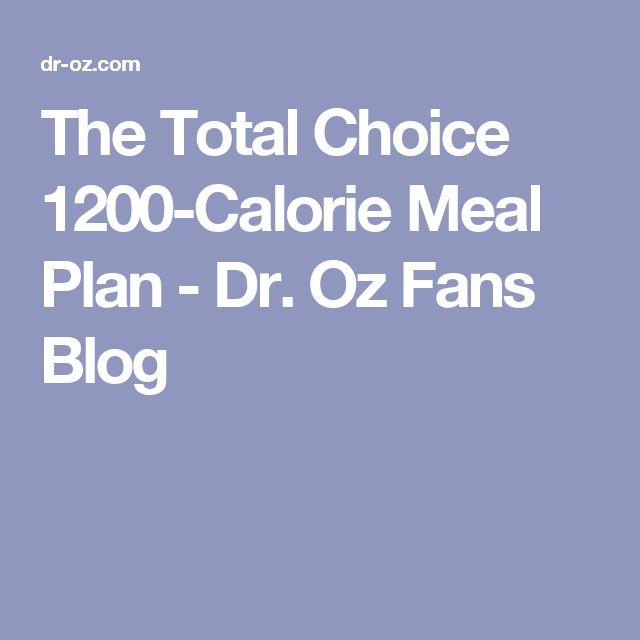 dr oz total choice plan pdf