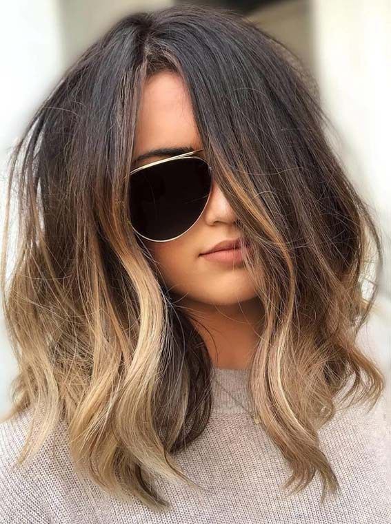 Fantastic Lob Model Haircuts with shadow Roots in 2018-2019