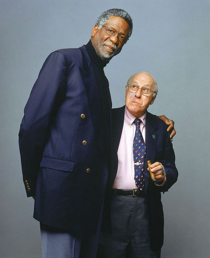 Five-time MVP, 12-time All-Star and winner of 11 NBA Championships, Hall of Famer Bill Russell poses with former Boston Celtics head coach, general manager, president and vice chairman, Hall of Famer Red Auerbach in 1999. Russell turned 82 years old on Feb. 12, 2016. (Michael O'Neill for SI)GALLERY: Rare Photos of Bill Russell