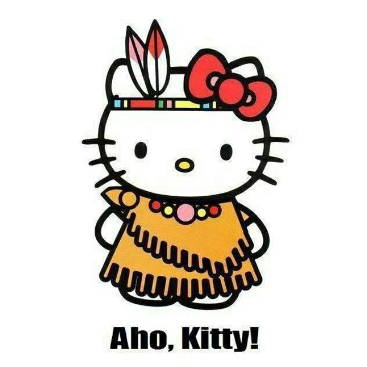 Love me some Native Hello Kitty! Lol