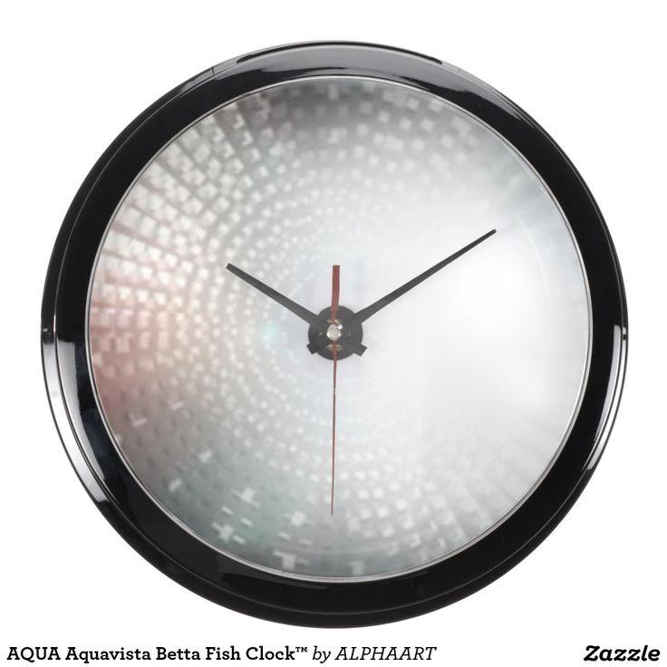 AQUA Aquavista Betta Fish Clock™ Aquarium Clock