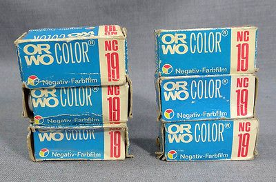 6 VTG DDR GERMANY GERMAN ORWO NC19 COLOR NEGATIVE 120 FILM ROLL UNUSED OLD STOCK - http://hooligansentertainment.com/2014/02/14/6-vtg-ddr-germany-german-orwo-nc19-color-negative-120-film-roll-unused-old-stock/