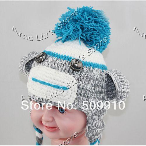 Crochet Pattern For Baby Monkey Hat : monkey earflap hat crochet pattern free Sock Monkey Baby ...