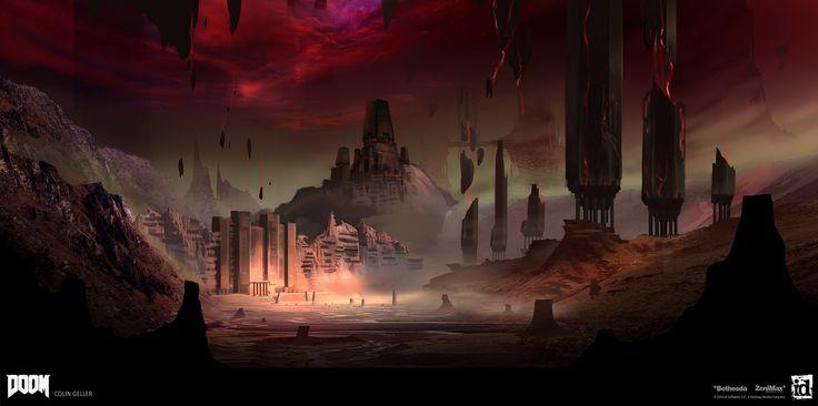 ArtStation - DOOM - Hell Previs, Colin Geller