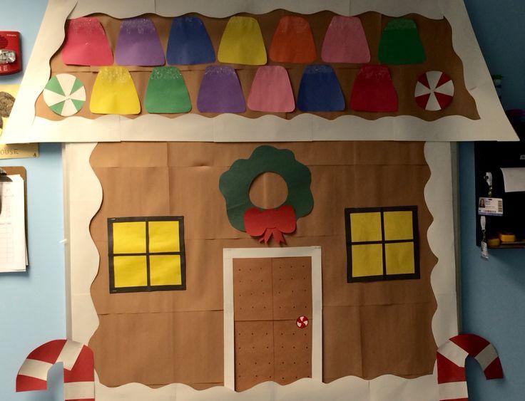 Preschool decoration bulletin board door winter for Home bulletin