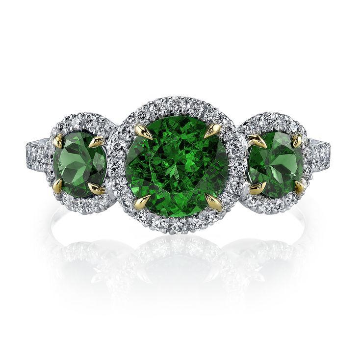Khai Khai Woman Oxidized 18-karat Gold Tsavorite Ring Green Size 6.5 Khai Khai ue8aakaqO