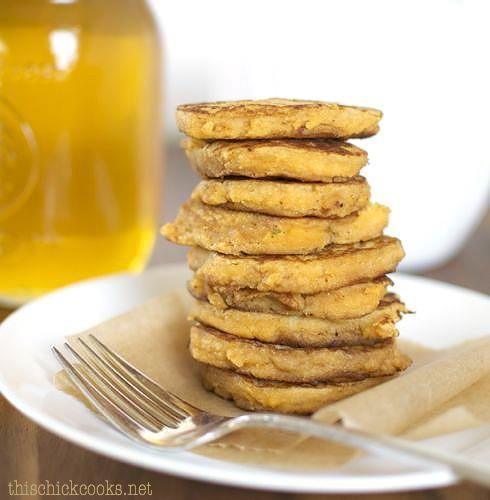 Flourless Sweet Potato Pancakes #justeatrealfood #thischickcooks