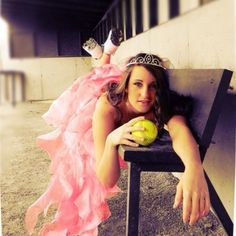 prom dress softball senior picture - Google Search