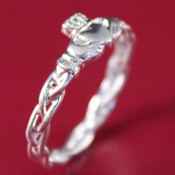 Claddagh ring ladies silver claddagh ring by IrishJewelryDesign