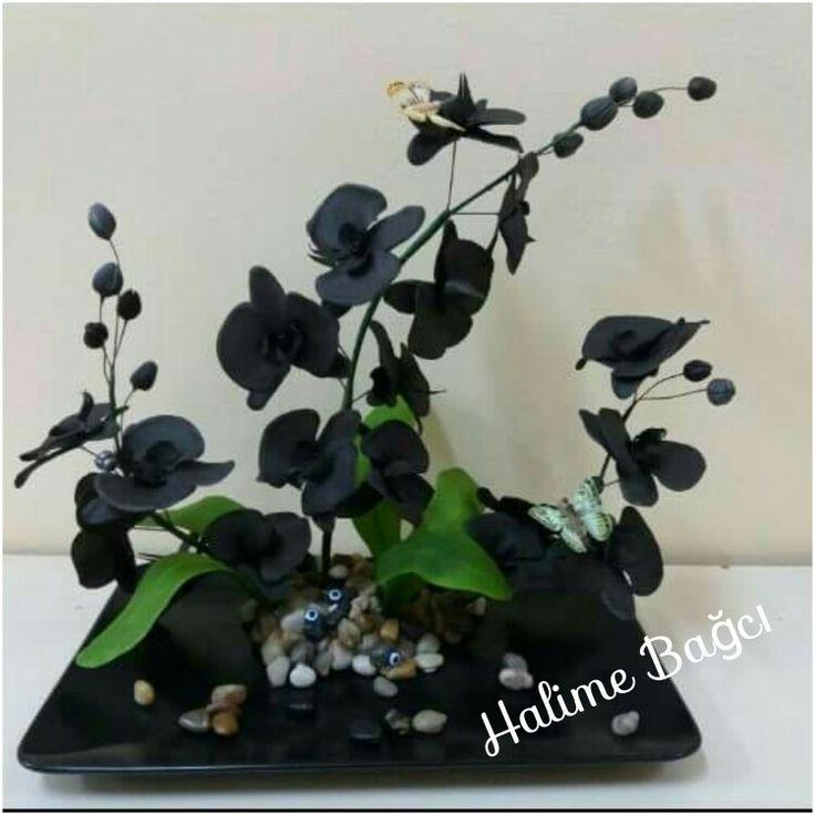 Ceramic flower Ceramic Coldporcalain  Seramik çiçek Seramik Orkide Orcide