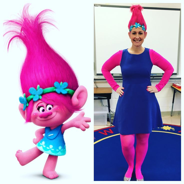 Halloween costumes for teachers! Poppy from Trolls!