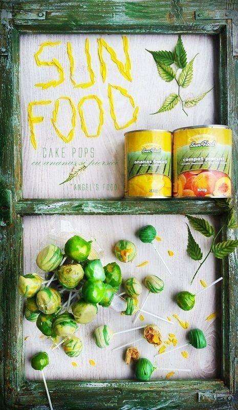 Angel's food: Cake pops cu ananas si piersici, pregatite la rece...