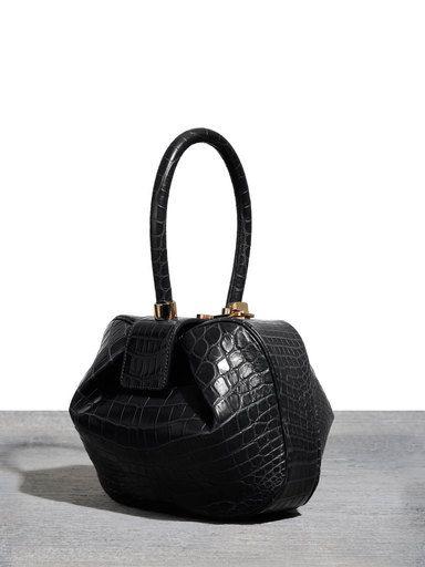 Nina bag in black crocodile | by Gabriela Hearst