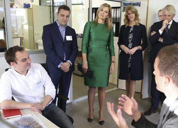 ♥•✿•QueenMaxima•✿•♥...On November 17, 2017, Dutch Queen Maxima attended the presentation of the 2017 annual report of State of the SME's (The Small and Medium-sized Enterprises), during the Entrepreneur Day held at the Octatube company in Delft, The Netherlands.