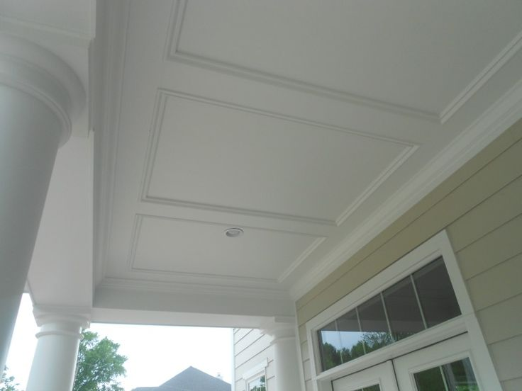 Hardie Smooth Panel W Trim In 2019 Porch Ceiling Plank