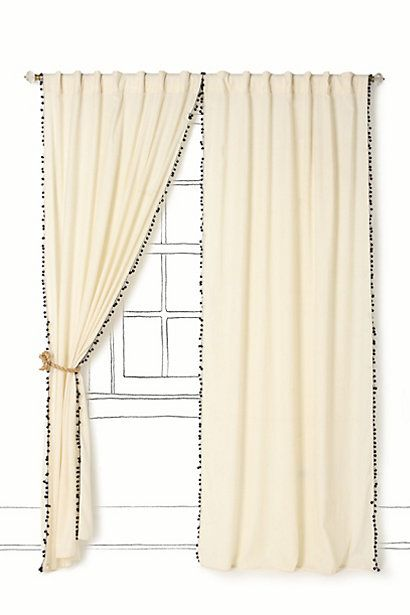 Anthropologie Curtains for $139 (on sale).  EXACTLY what I want to do in my bedroom, except with my plain ole Ikea drapes.