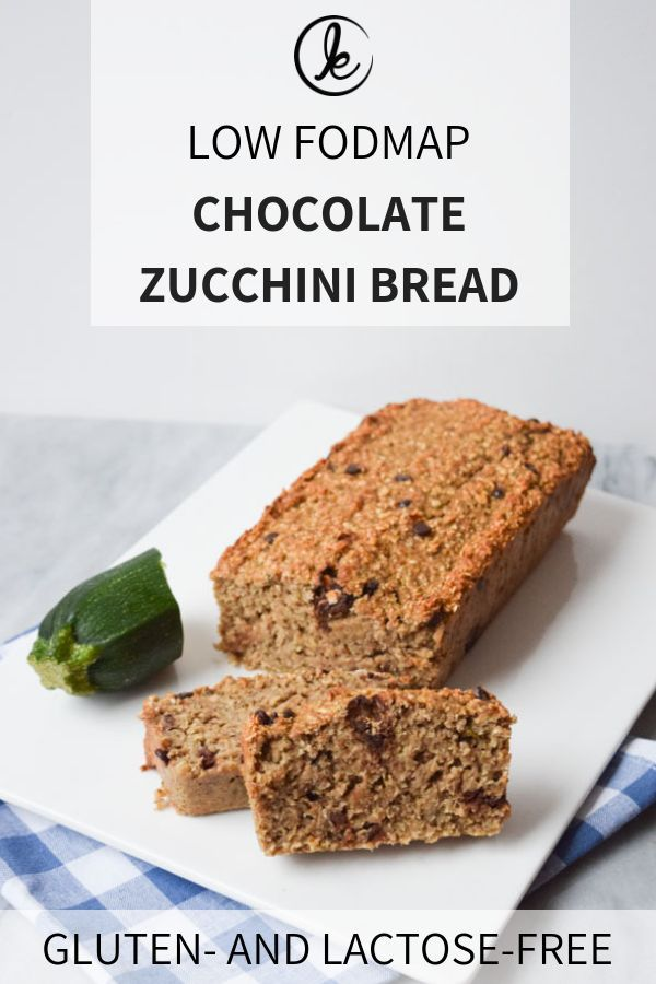 Chocolate Zucchini Bread Low Fodmap Gluten Free Vegan Recipe Low Fodmap Snacks Chocolate Zucchini Bread Fodmap Snacks