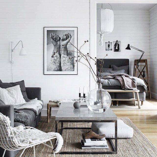 Холодный но уютный скандинавский стиль #inspiration #interior #interiors #interiordesign #интерьер #интерьеры #дизайнинтерьера #дизайнинтерьеров #красивыеквартиры #красивыедома #дизайнбюро #дизайнстудия #вдохновение #дизайнгостиной