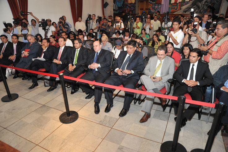 El mandatario Javier Duarte de Ochoa dio conferencia de prensa para dar a conocer los detalles de las inversiones logradas en su viaje al país sudamericano.