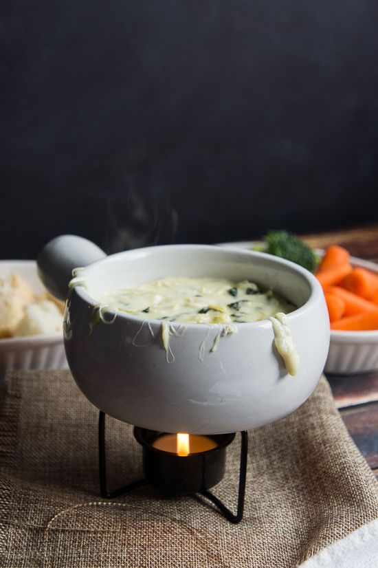 Spinach and Artichoke Fondue