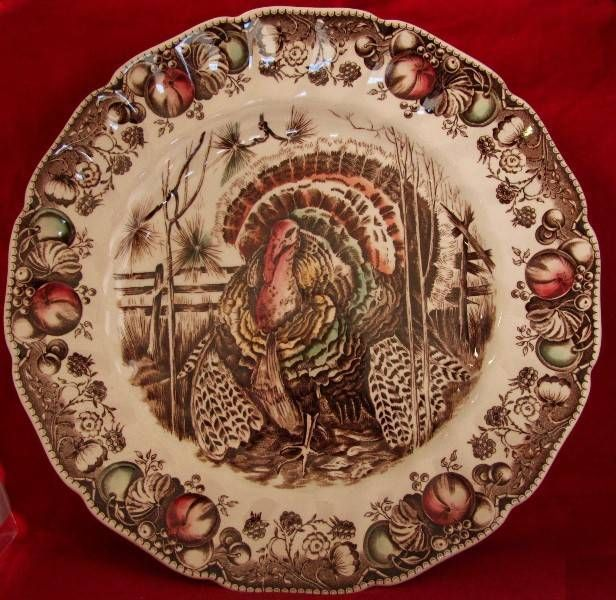 Original HIS MAJESTY pattern by JOHNSON BROS. 10 1/2  Dinner Plate. Turkey DishesTurkey PlatesThanksgiving ...  sc 1 st  Pinterest & 112 best Turkey plates images on Pinterest | Turkey plates Turkey ...