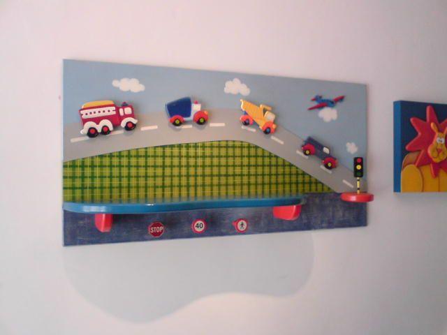Cuadro medios de transporte decoracion alcobas for Alcobas infantiles