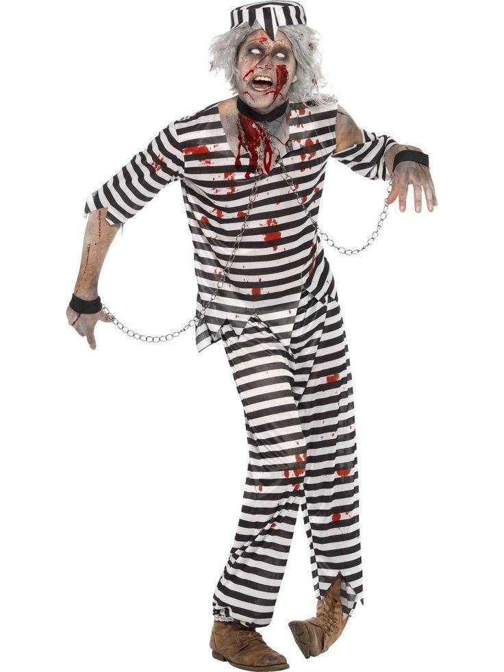 Men's Zombie Convict Costume