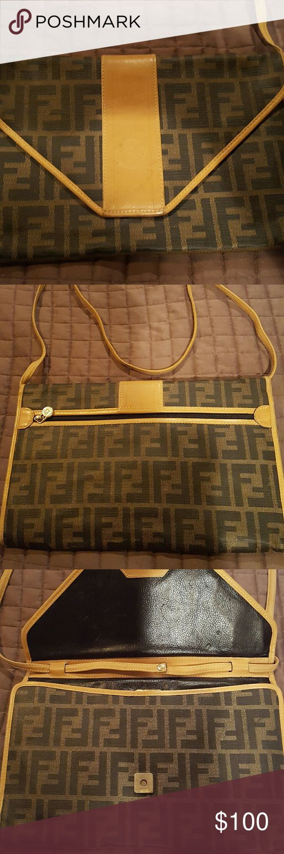 Authentic MonogramVintage Fendi Purse Crossbody Beautiful Purse in very good condition. Crossbody strap can be remove if you like. $100 firm Fendi  Accessories