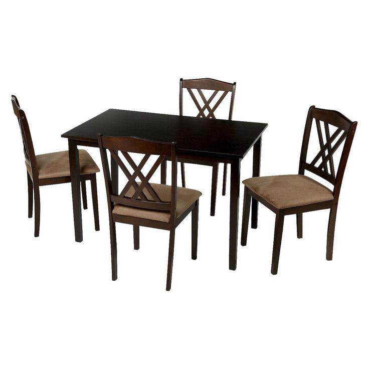 Tms 5 Piece Double Cross Back Dining Set Funny Memes