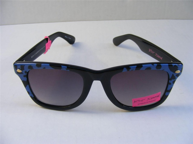 really love these Betsy Johnson sunglasses...I have these same ones but pink instead of blue...!!!