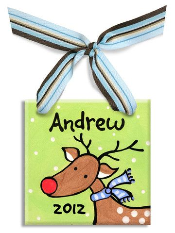 Reindeer Boys Ornament | Jack and Jill Boutique
