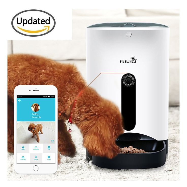 Automatic APP Feeders , Hmlai SmartFeeder APP Automatic cat Feeder Food Dispenser for Dogs and Cats with your iPhone ipad and Android Phone share- Features Feeding Video, pictures ** Quickly view this special cat product, click the image : Cat Collar, Harness and Leash