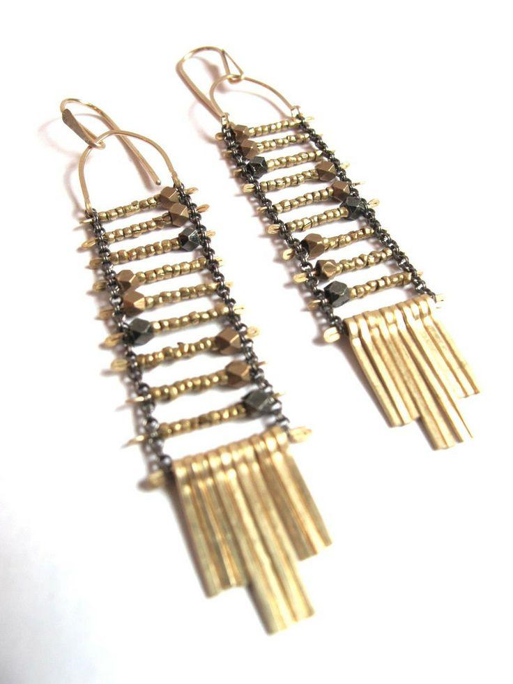 Demimonde Beaded Asymmetry Earrings - Demimonde