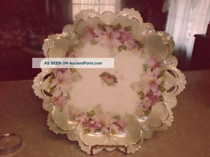 m z austria porcelain | ... Victorian Pink Floral M. Z. Austria Charger Plate Moritz Zdekauer