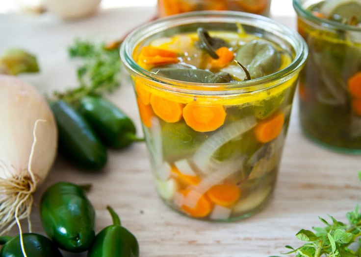 From Cooking Lessons: pickled jalapenos! Great served with any Mexican bounty!