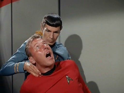 Some people deserve the Vulcan nerve pinch