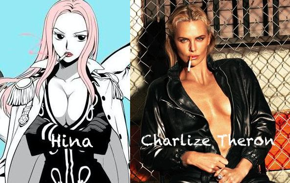Hina as Charlize Theron - One Piece