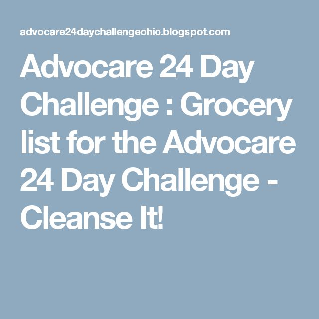 Advocare 24 Day Challenge : Grocery list for the Advocare 24 Day Challenge - Cleanse It!