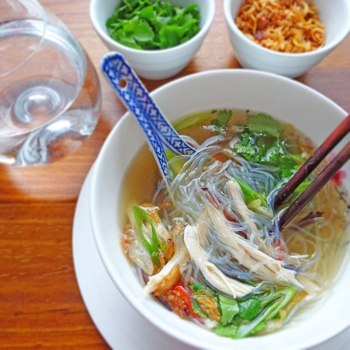 Vietnamese Chicken And Glass Noodle Soup Mien Ga Scruff Steph Glass Noodles Asian Recipes Vietnamese Chicken Soup