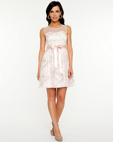Shimmer Tulle Illusion Dress