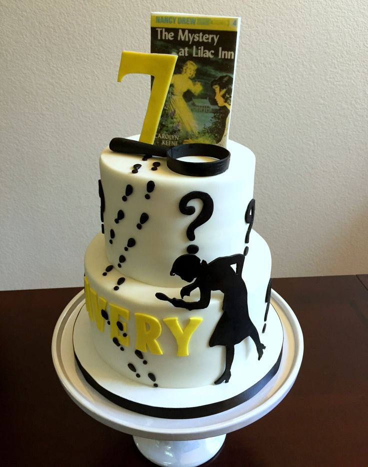 Nancy Drew party cake. Made with cake couture fondant.