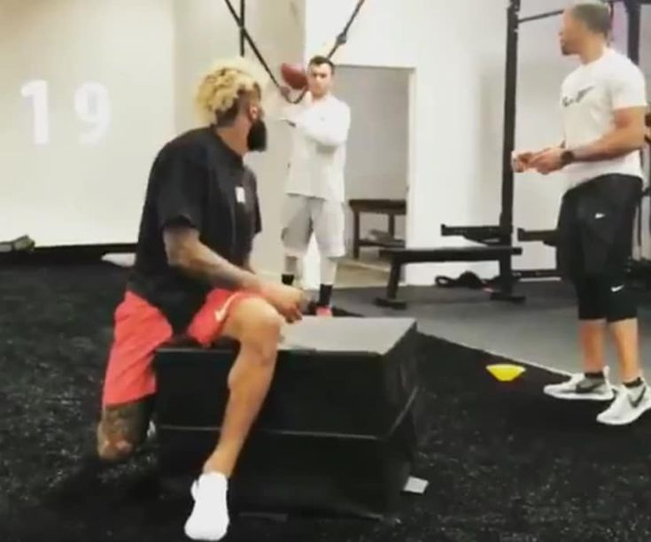 Deadly combination @OBJ_3 @JamalLiggin pic.twitter.com/oP8Jjfkuv8 — Johnny Manziel (@JManziel2) January 30, 2018  New York Giants receiver Odell Beckham Jr. is once again helping Johnny Manziel with his football comeback. Former Heisman Trophy winner Johnny Manziel and New York...